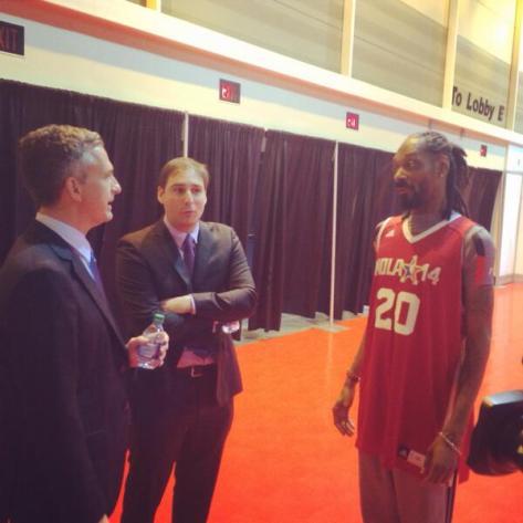 Simmons, Lowe, and Snoop Dogg