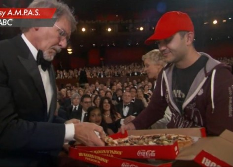 Harrison Ford and pizza