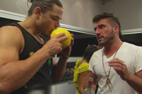 Zach and Isaac with the lemons